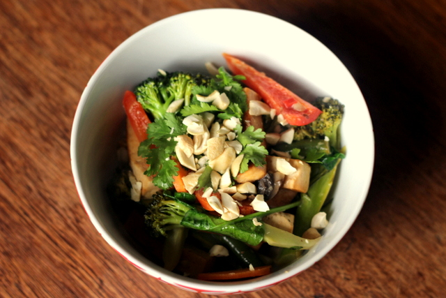 Thai veggie stirfry
