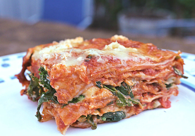 Delicious, home-cooked vegetarian lasagna || to her core