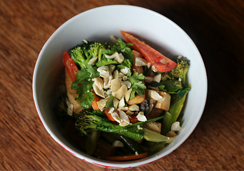 Thai vegetable stir fry - to her core