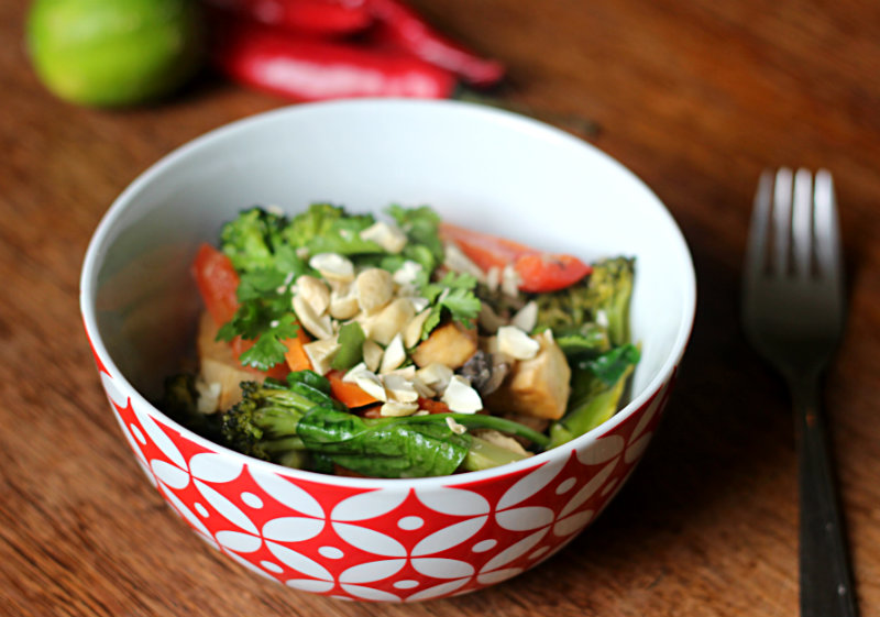 thai veggie stir fry - to her core