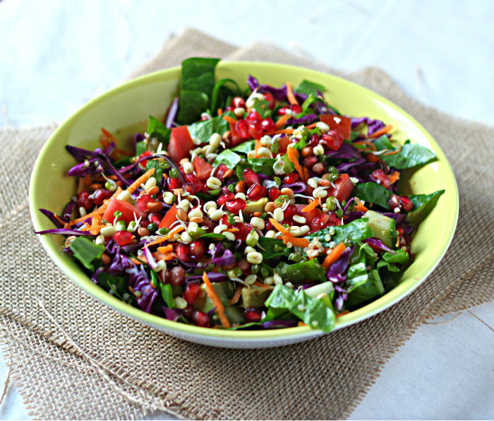 Rainbow detox salad with ginger dressing | to her core