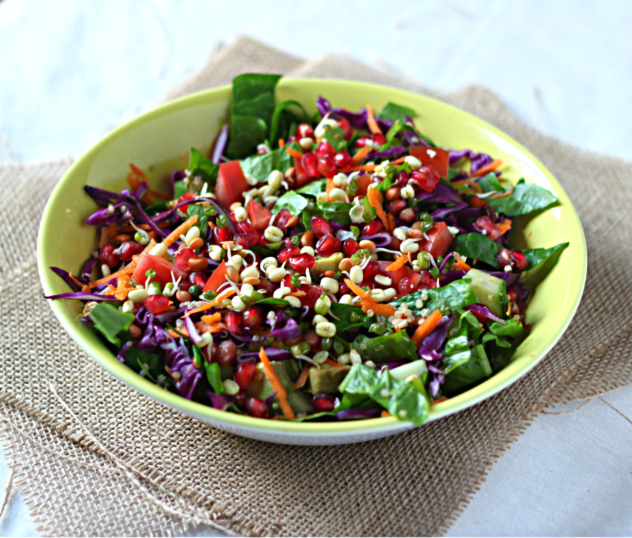 Spiked Rainbow Ribbon Salad Recipe — Dishmaps