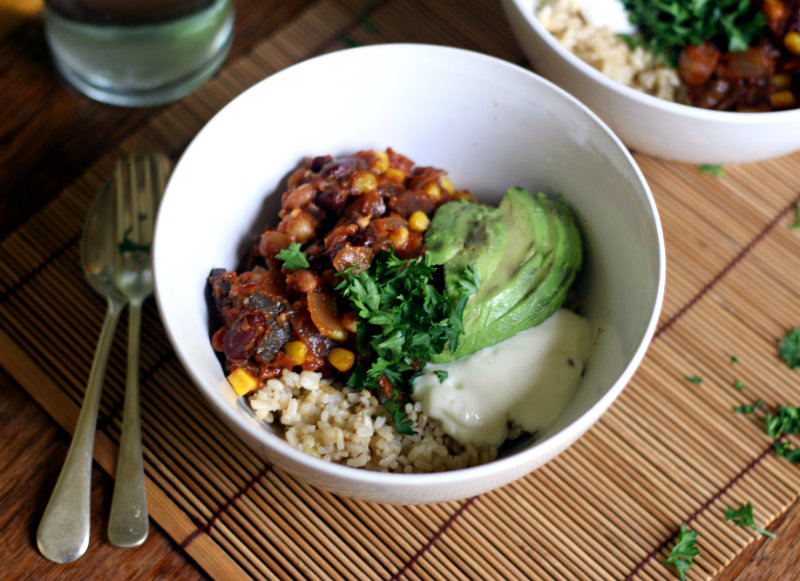 Tex mex bean bowl