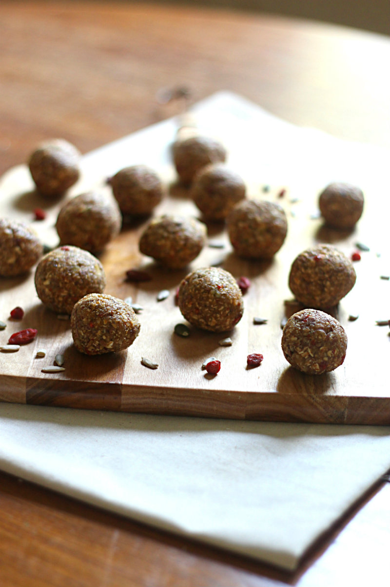 Gluten, nut, dairy, soy and refined sugar free bliss balls