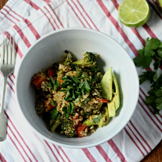 Vegetable and quinoa scramble