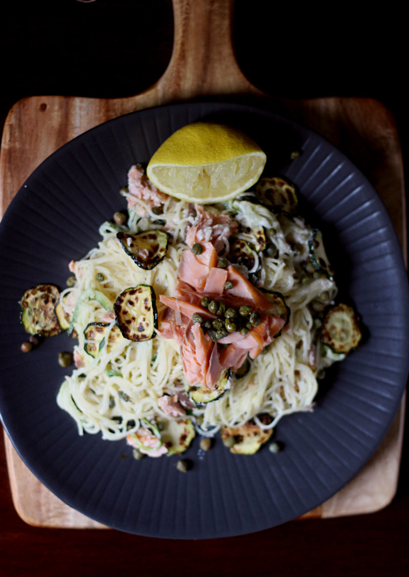 smoked salmon pasta - to her core