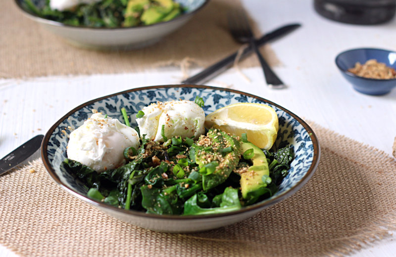 Greens + eggs breakfast bowl - to her core