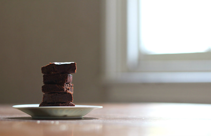 A (slightly) healthier version of a traditional rich, chocolatey and fudgy brownies