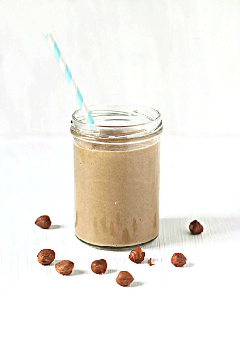 A deliciously rich and creamy chocolate protein smoothie - to her core