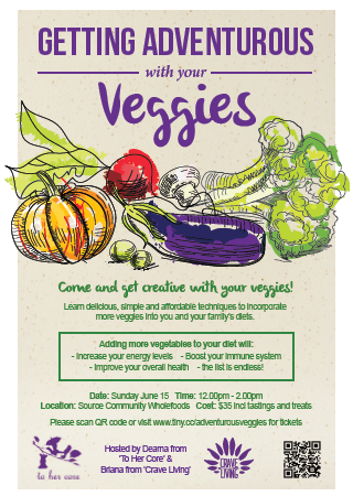 Getting adventurous with your veggies workshop