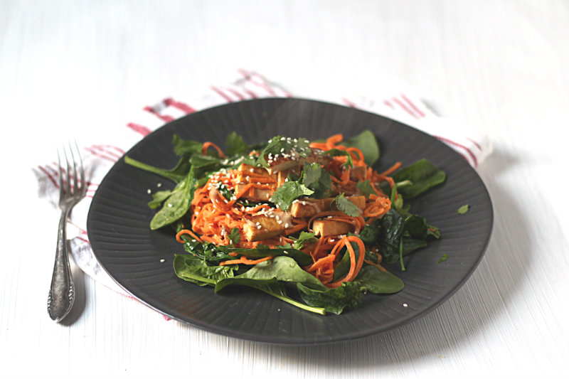 sweet potato noodles tofu miso tahini - to her core