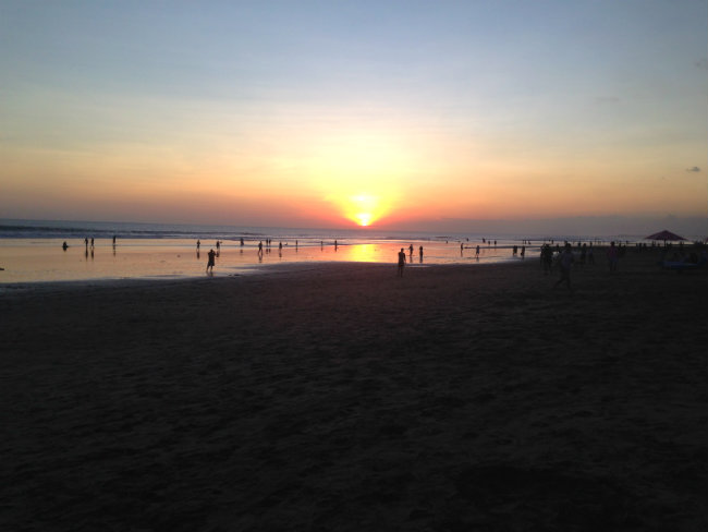 seminyak beach sunset - to her core