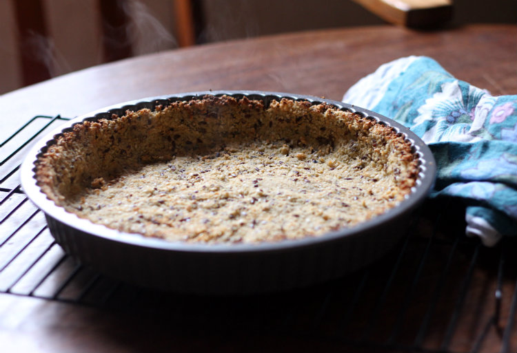 baked cauliflower pie crust - to her core