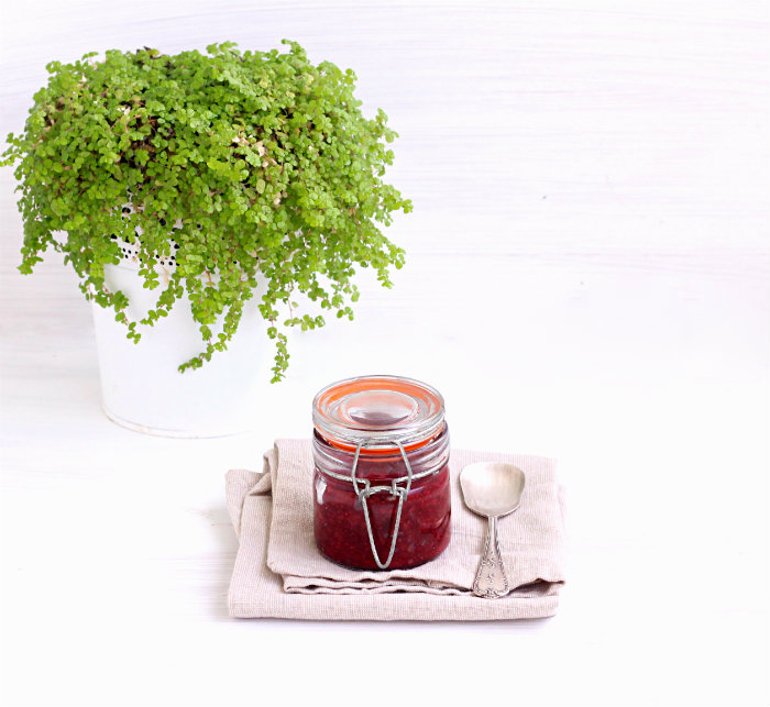 Quick and easy spiced berry chia jam by to her core
