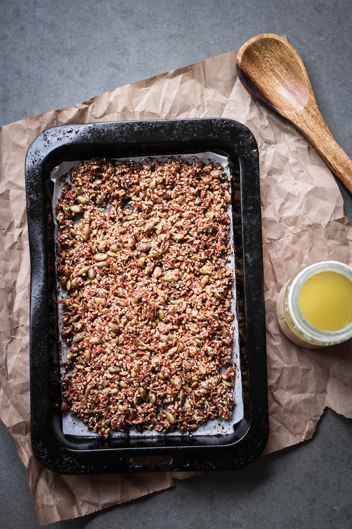 Savoury seed granola - to her core