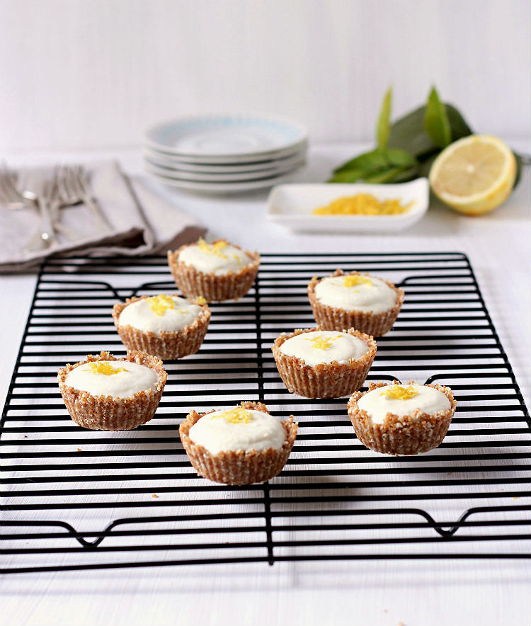 zesty lemon cream cups (very low sugar, gluten free, dairy free) | to her core