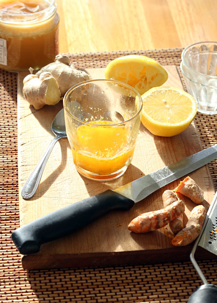 turmeric and ginger flu tonic - to her core