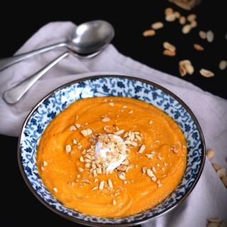 Roasted pumpkin and peanut soup