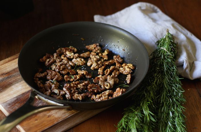 Salted honey and rosemary walnuts - to her core