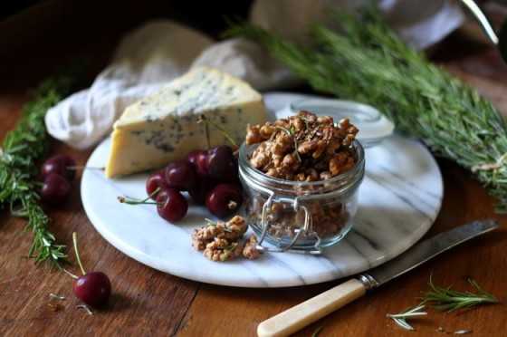 Salted honey rosemary walnuts - to her core