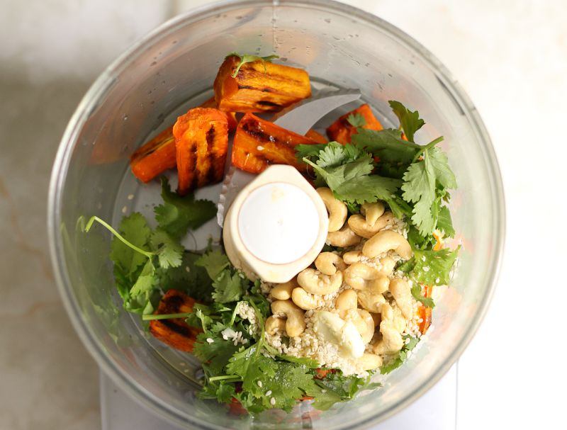 carrot coriander pesto - to her core