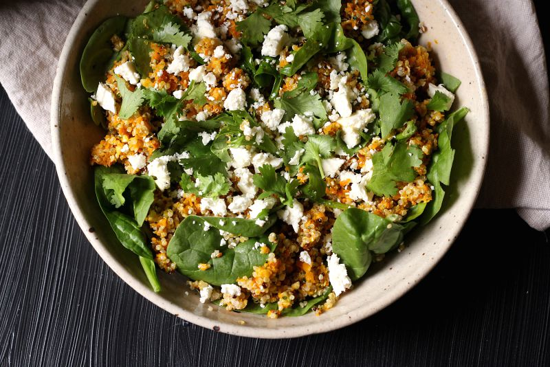 carrot pesto salad - to her core