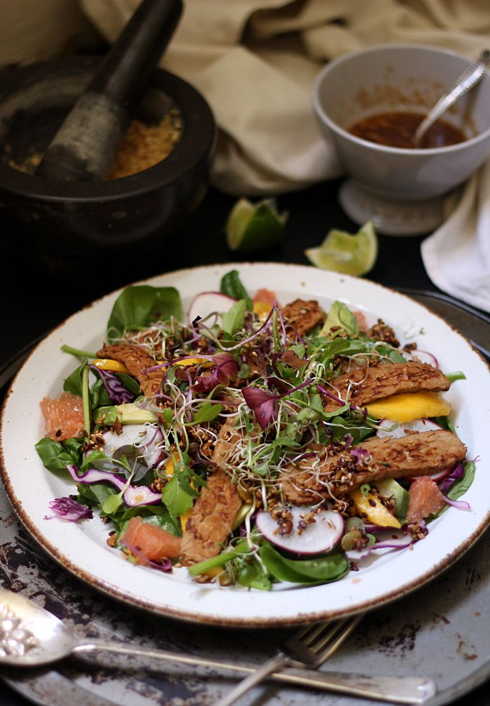 Asian sweet and sour salad 1 - to her core