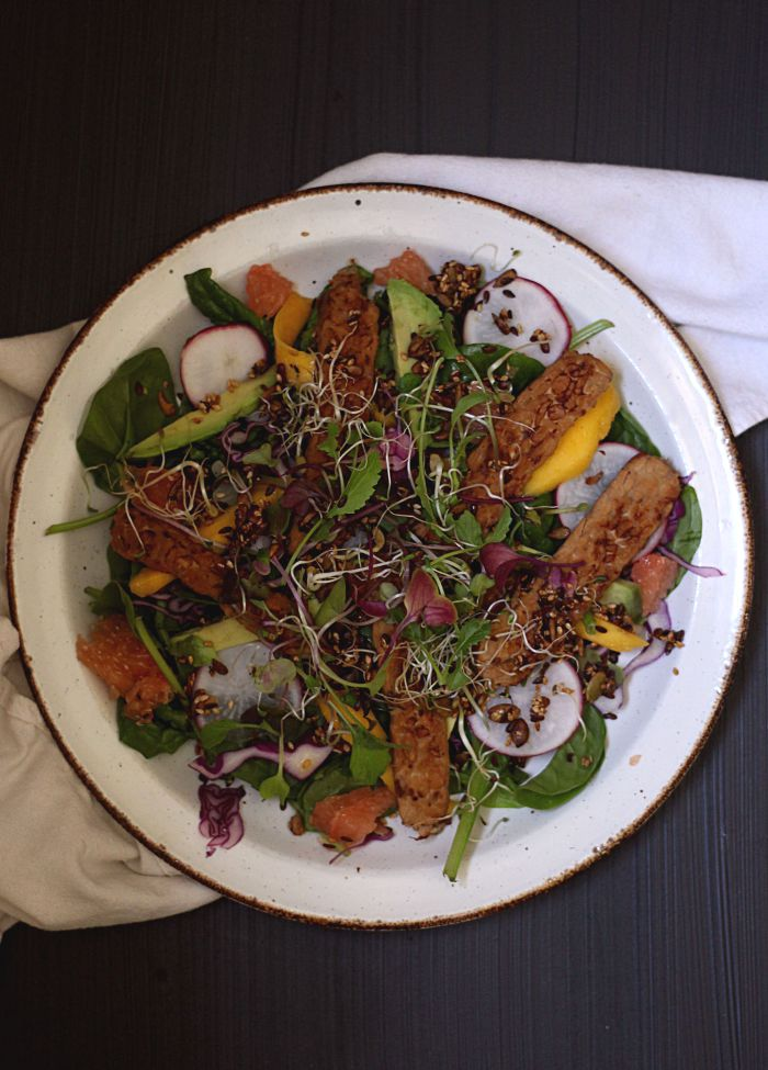 Asian sweet and sour summer salad - to her core
