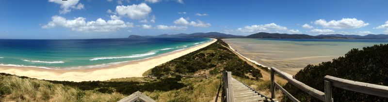 Bruny Island isthmus - to her core