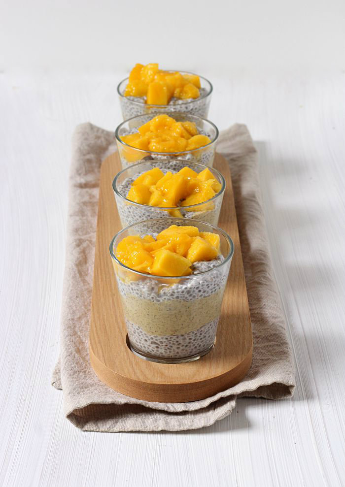 Mango chia parfait - to her core