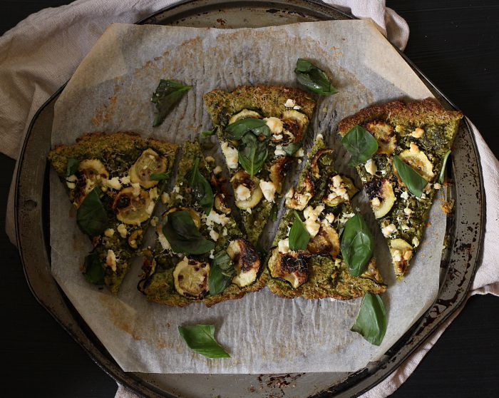 green pesto pizza 4 - to her core