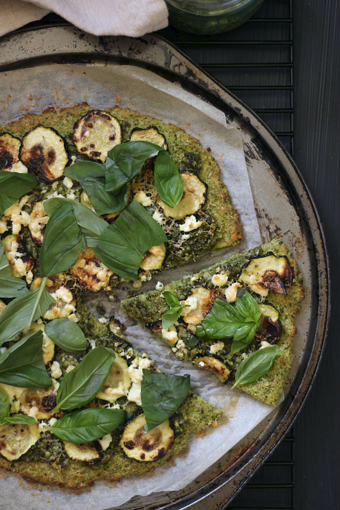 green pesto pizza - to her core 2