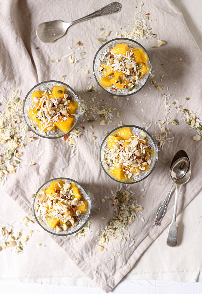 mango chia seed parfait - to her core