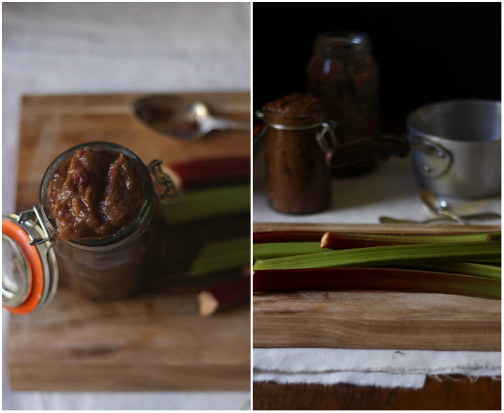 Roasted rhubarb relish - to her core