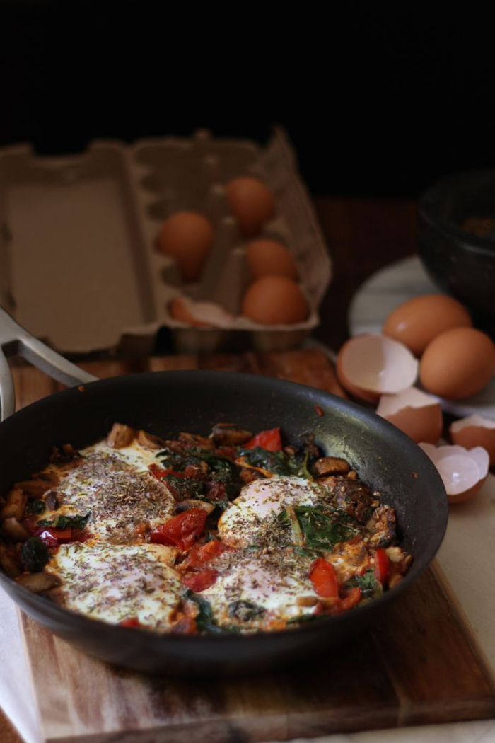 Za'atar baked eggs - to her core