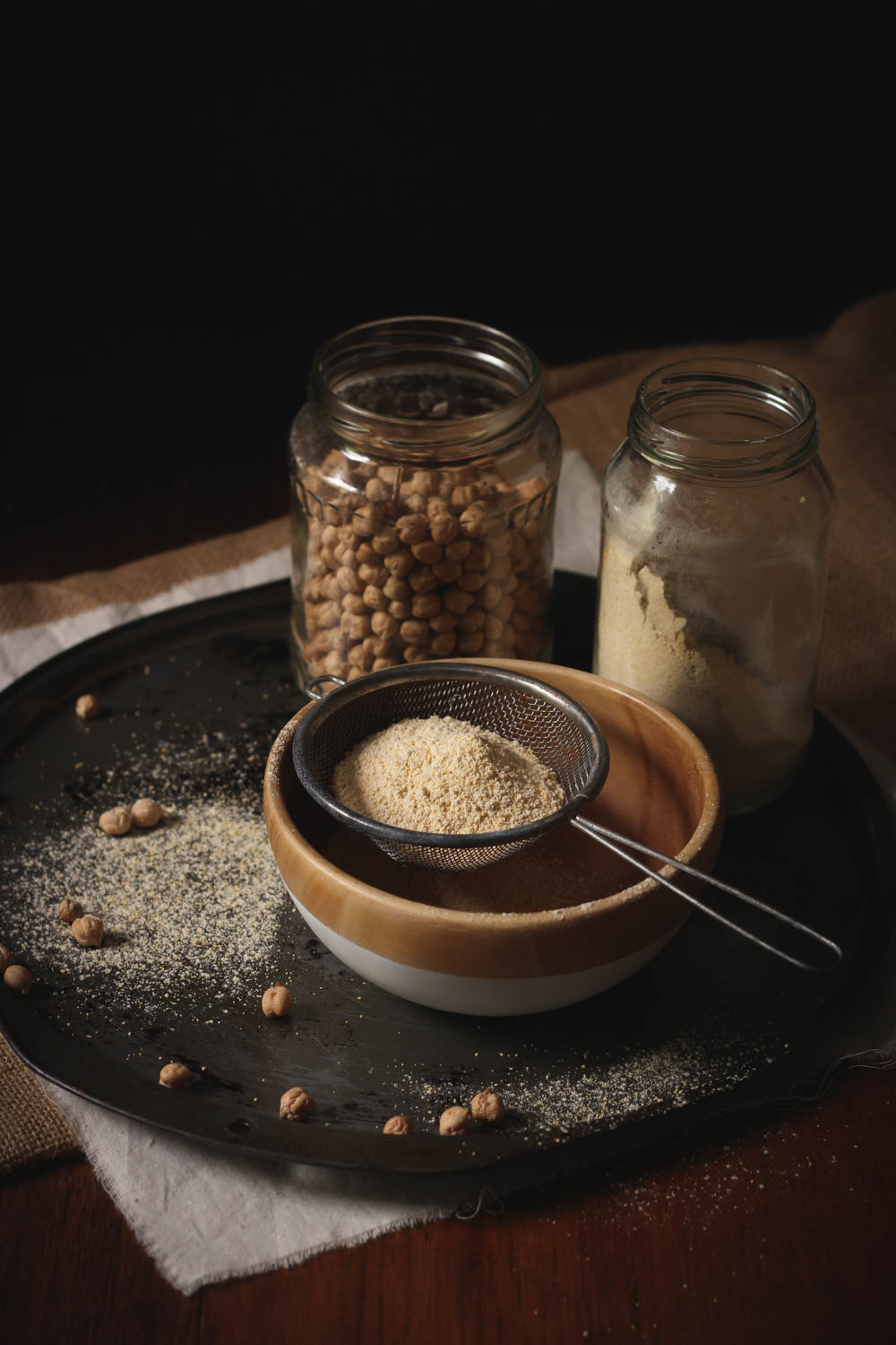 Make you own sprouted chickpea flour at home || to her core