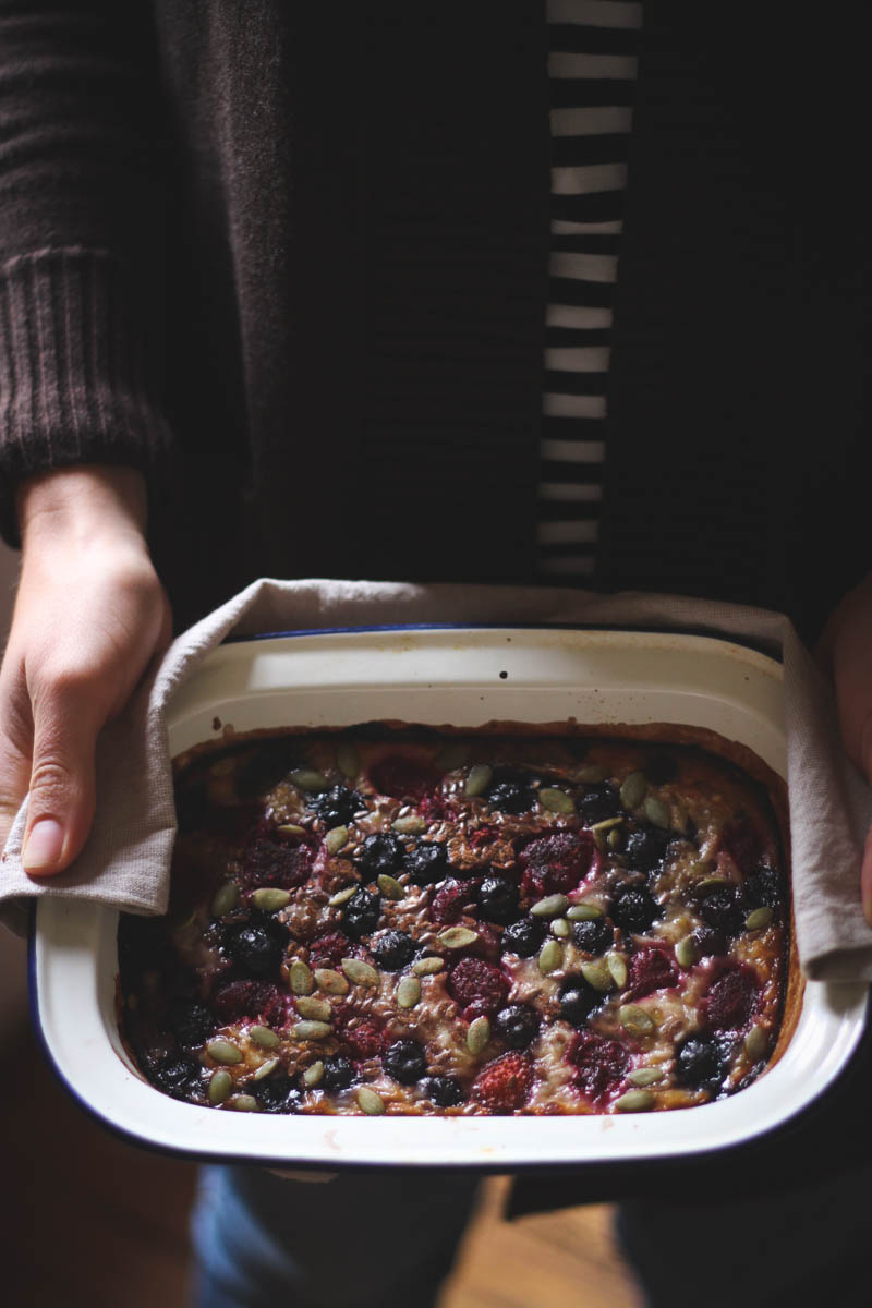 Wholegrain banana berry bake | to her core