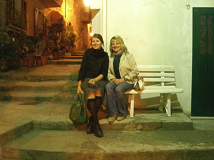 Mum and I in Paglieta in 2006, the small town in Italy where she was born