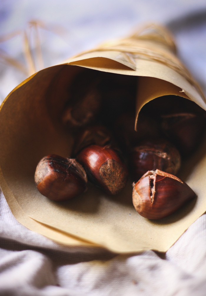 How to roast chestnuts in a cast iron skillet