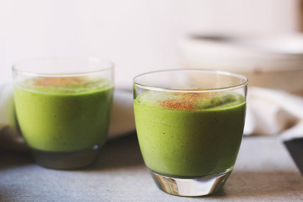 avocado + lime green tea smoothie - to her core