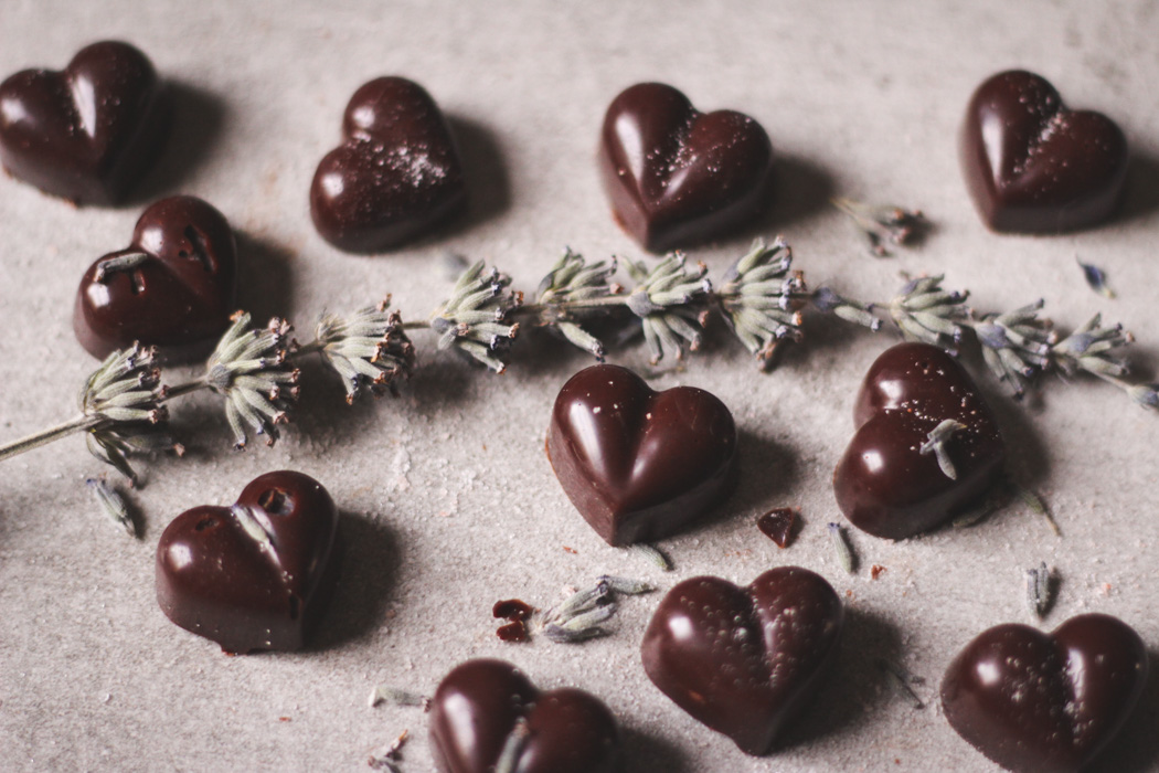 raw salted chocolate with lavender - to her core