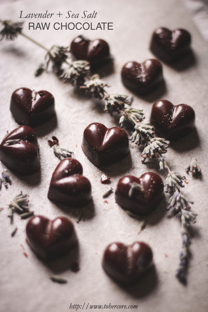 raw lavender chocolate - to her core