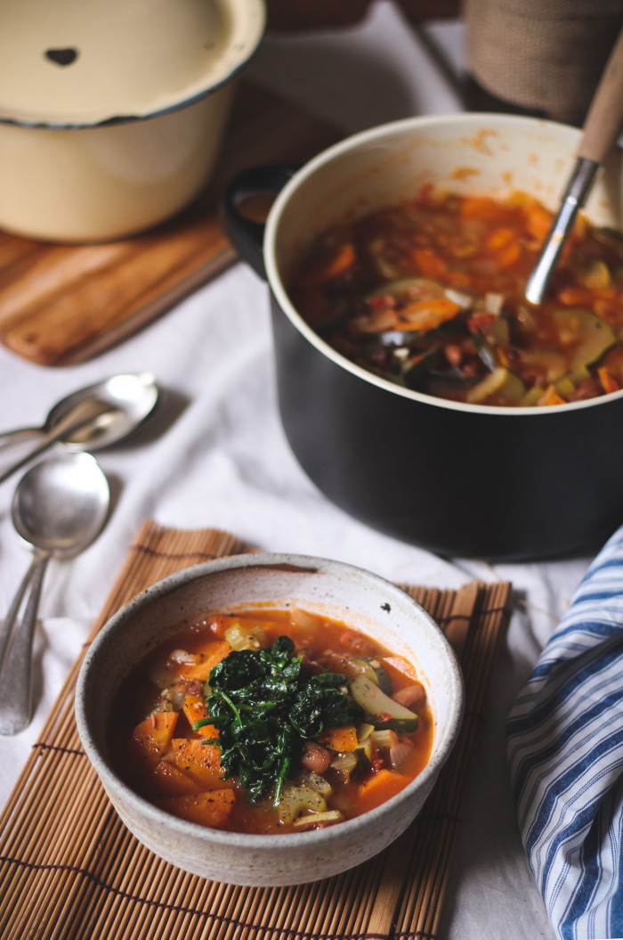 Zuppa di Mumma Italian vegetable soup - to her core