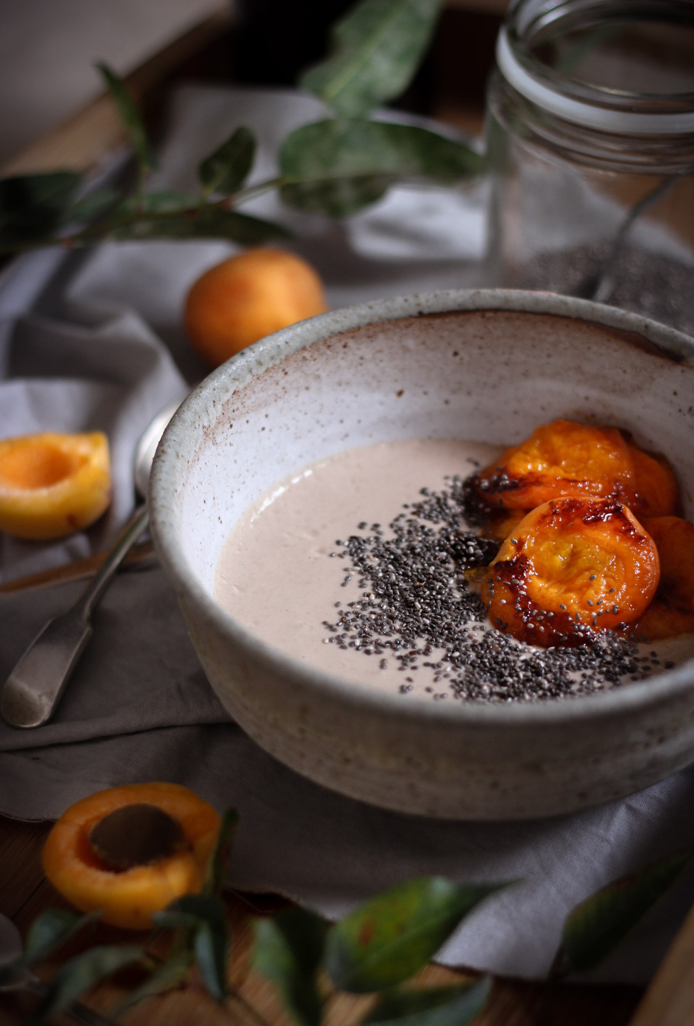 Charred apricot + buckwheat porridge - to her core