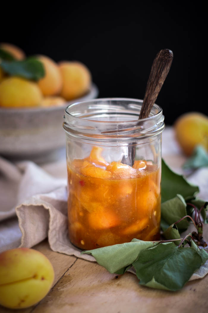 spiced + fermented apricot chutney - to her core