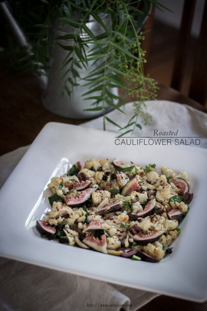 roasted cauliflower salad - to her core txt