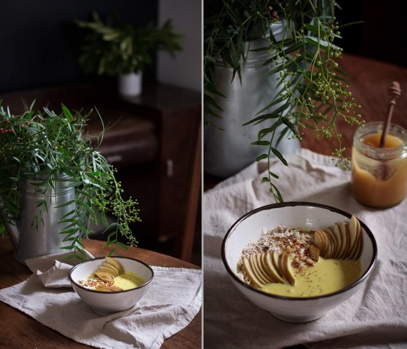 Golden milk porridge - to her core 8