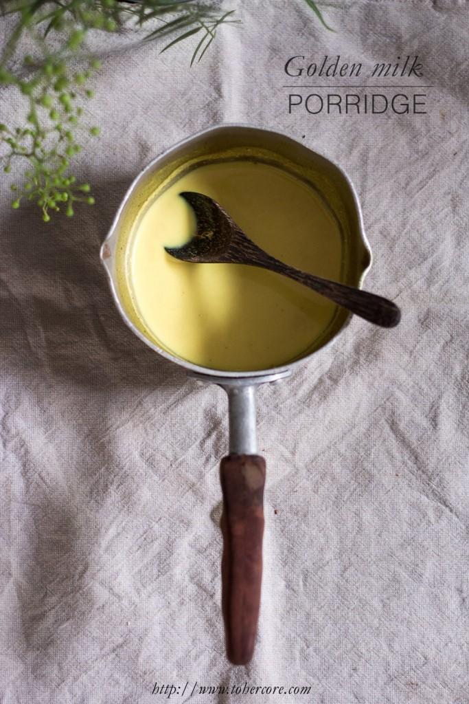 Golden milk porridge - to her core