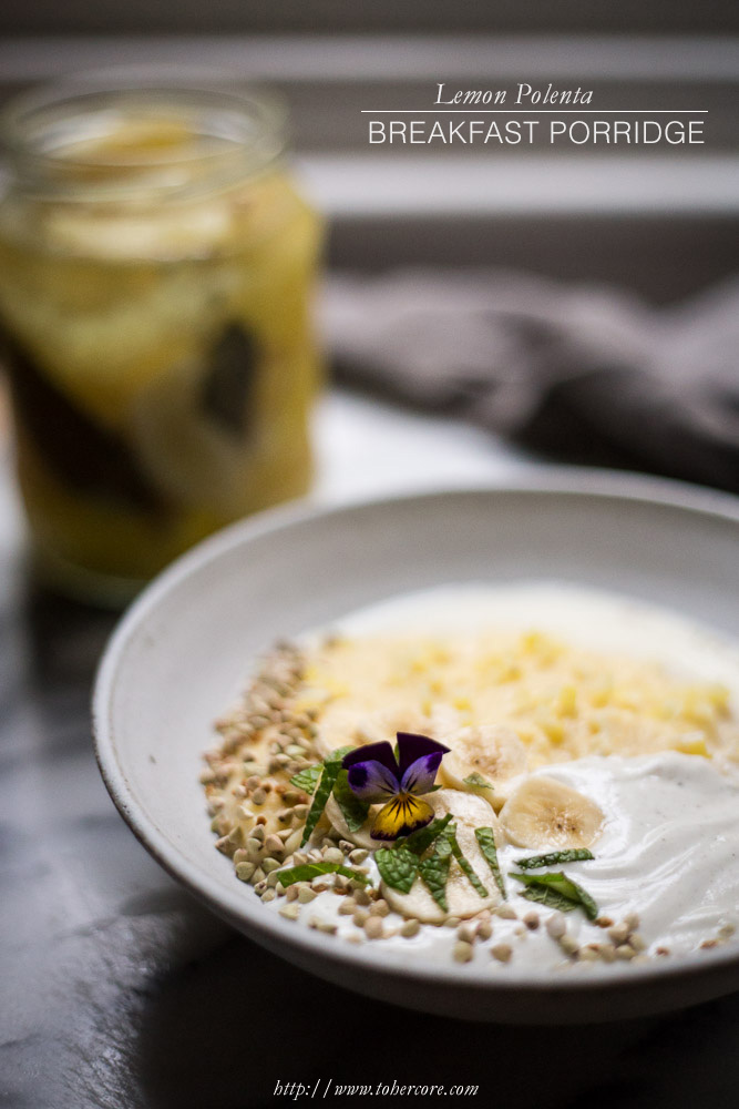 lemon polenta porridge TXT - to her core