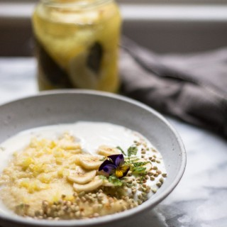 Lemon polenta porridge